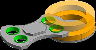 工件分度自转方式(G2)