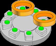 单端分度旋转工作台方式(IT8)