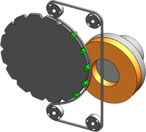 横型ロータリーキャリア・ベルトクランプ方式(C)